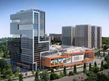Пять 26-этажных монолитных зданий